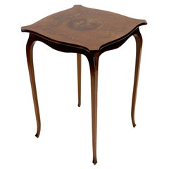 English Mahogany Painted Occasional Table