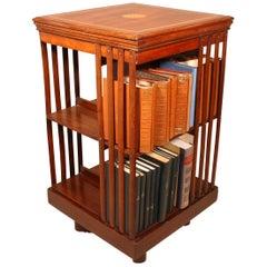 English Mahogany Revolving Bookcase