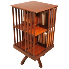 English Mahogany Revolving Bookcase