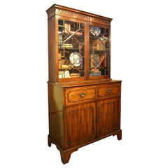 English Mahogany Secretaire Bookcase, circa 1790
