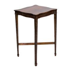 English Mahogany Serpentine Center Table