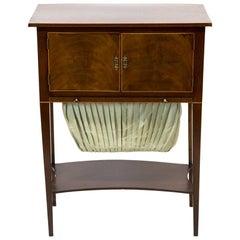 English Mahogany Sewing Table