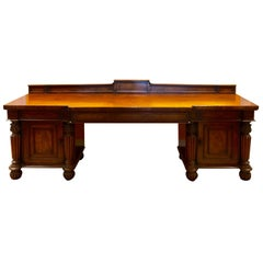 English Mahogany Sideboard Stamped T. Willson Queen Street, London, circa 1820