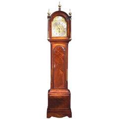 English Mahogany Tall Case Clock Signed by Maker M. Richardson, London, C. 1790