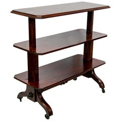 English Mahogany Three-Tiered Server