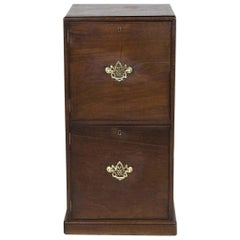 English Mahogany Two Door Cabinet