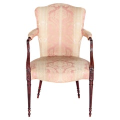 English Mahogany Upholstered Armchair
