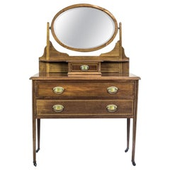 English Mahogany Vanity in the Neoclassical Style