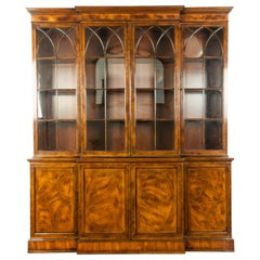 English Mahogany Wood Hutch / China Cabinet