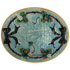 English Majolica Bread Tray, circa 1880