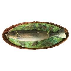 English Majolica Covered Fish Tureen