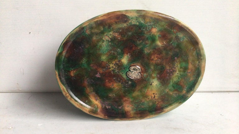 Ceramic English Majolica Game Pie Dish George Jones For Sale