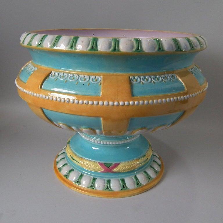 English Majolica Jardinière 'BWM' For Sale 11