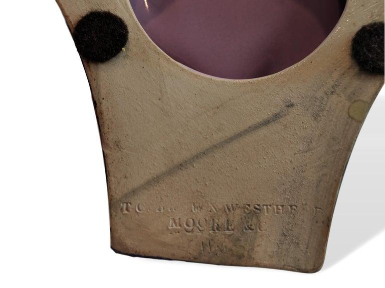 Ceramic English Majolica Vase Signed TC Brown Westhead Moore, circa 1875 For Sale