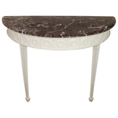 English Marble Georgian Painted Console