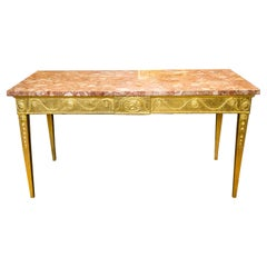 English Marble Gilt ConsoleTable