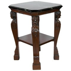 English Marble-Top Center Table