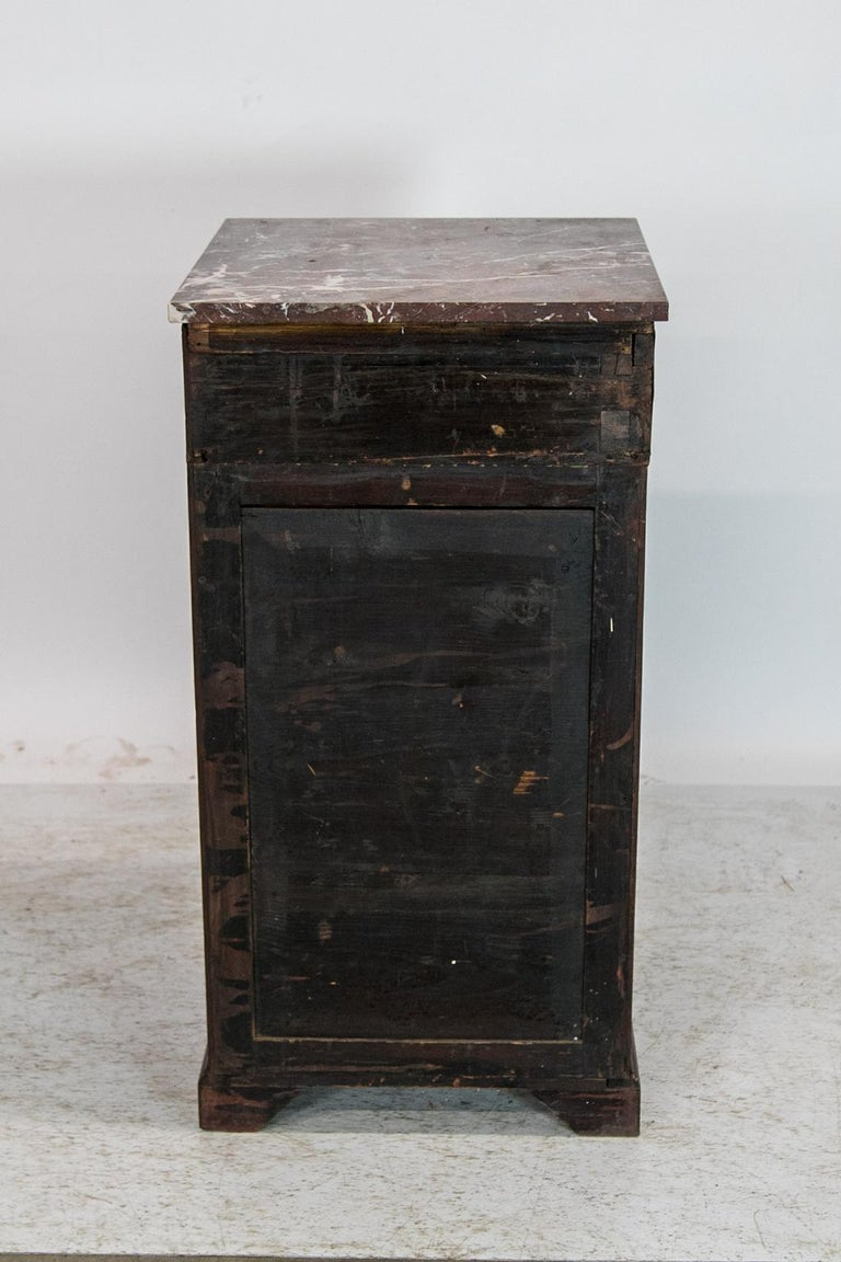 English Marble Top Silver Cabinet For Sale 4