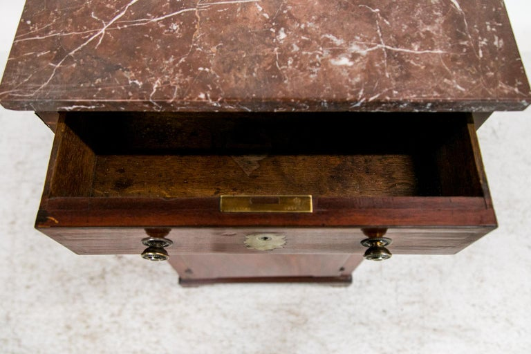 English Marble Top Silver Cabinet In Good Condition For Sale In Wilson, NC