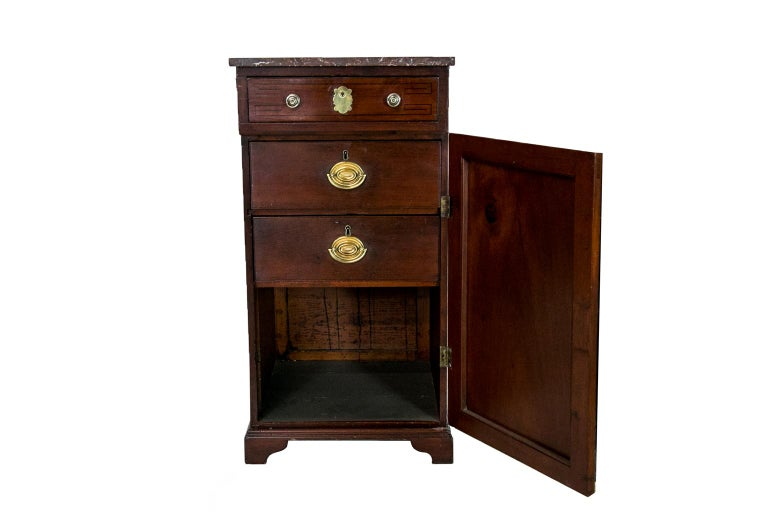 Early 19th Century English Marble Top Silver Cabinet For Sale