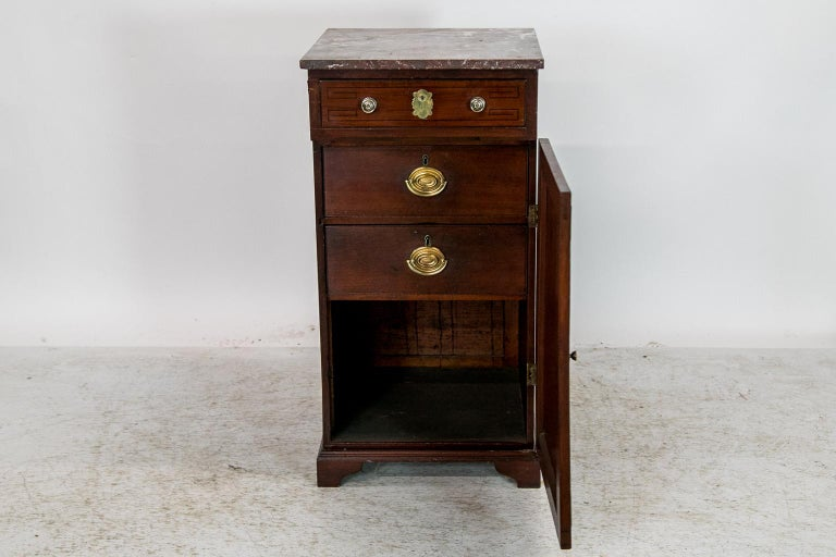 English Marble Top Silver Cabinet For Sale 1