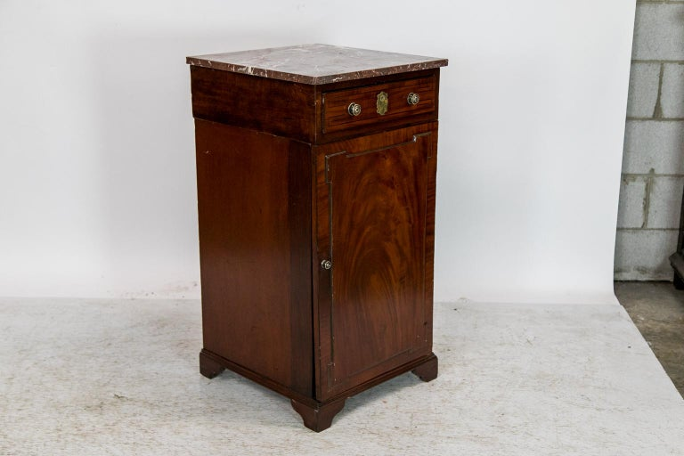 English Marble Top Silver Cabinet For Sale 2