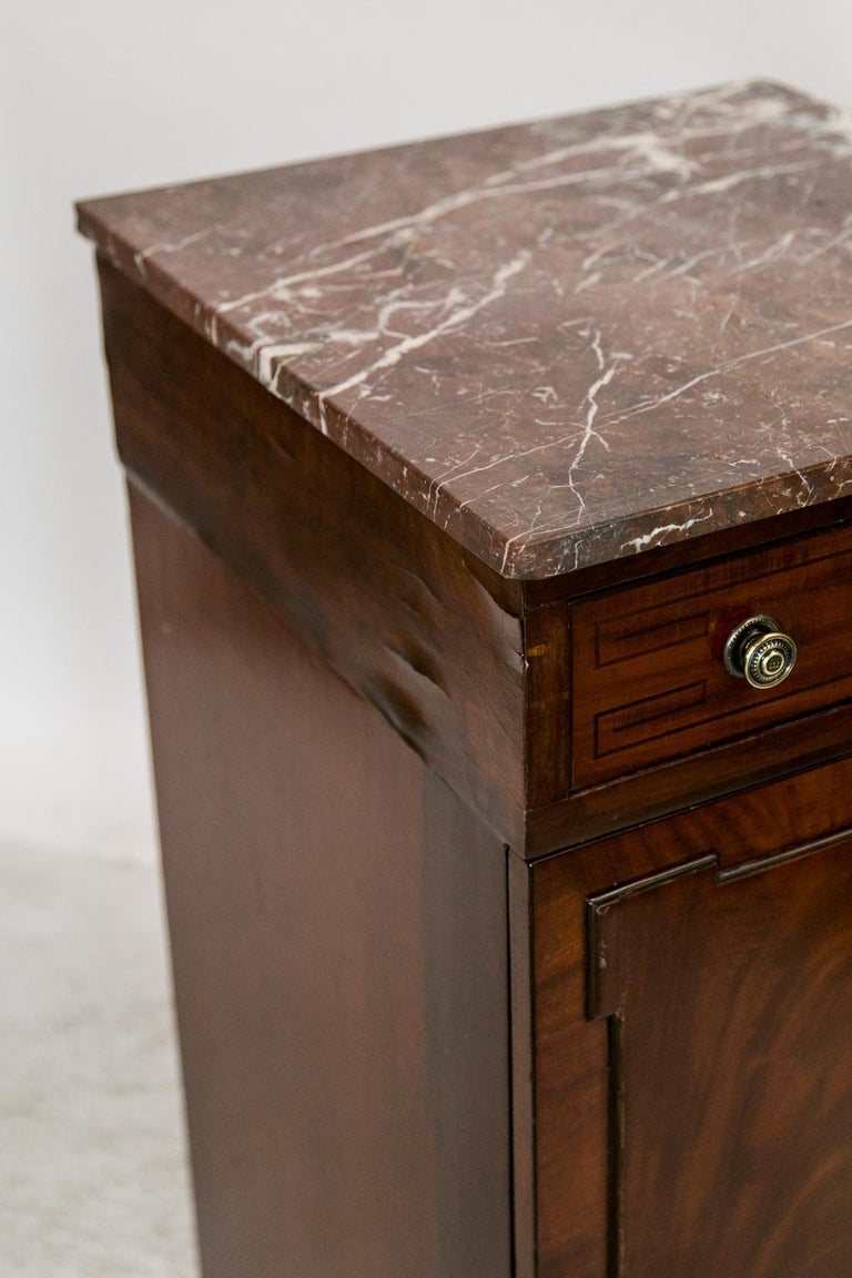 English Marble Top Silver Cabinet For Sale 3