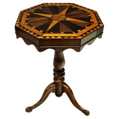 English Marquetry Side Table