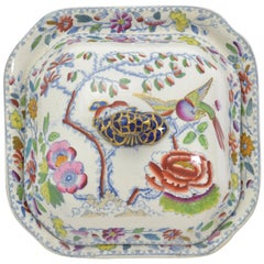 English Mason's Ironstone Covered Dish