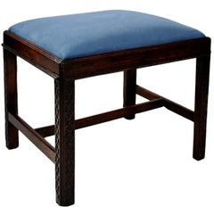 English Mid-18th Century George III Mahogany Chippendale Style Stool, circa 1760