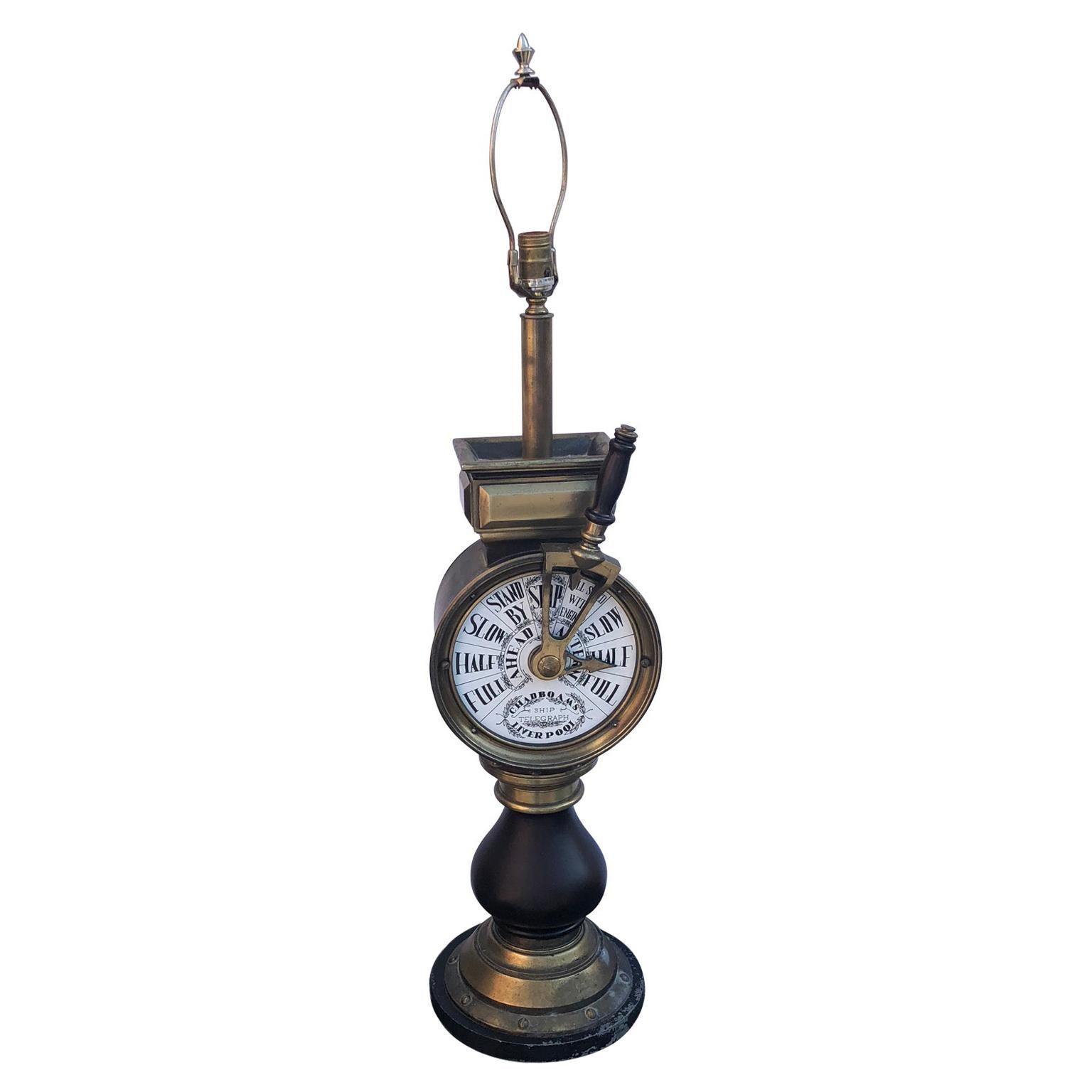 English Mid-20th Century Nautical Table Lamp