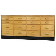 English Midcentury Beech Post Office Drawers