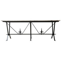 English Midcentury Marble Console Garden Table
