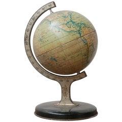 English Mid-Century Tin Metal Decorative Desk Globe