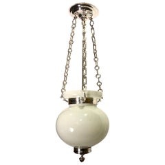 English Milk Glass Lantern