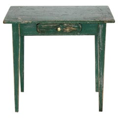 English Miniature Painted Side Table