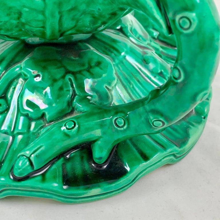 English Minton Japonisme Aesthetic Movement Majolica Aubergine Eggplant Vase For Sale 3