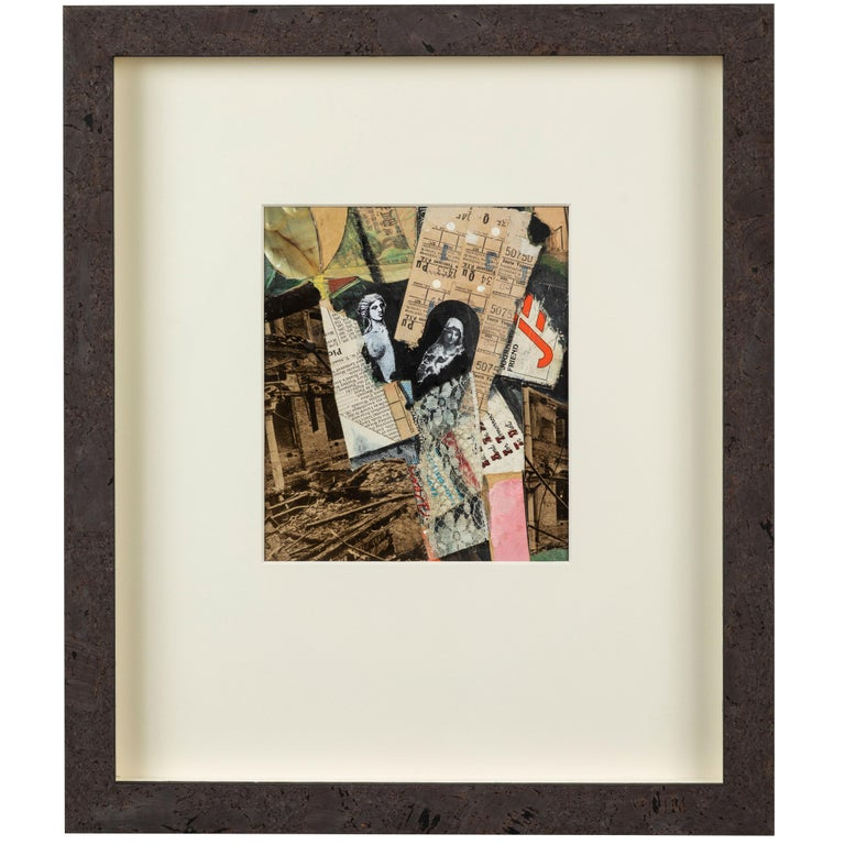 English Mixed-Media Collage For Sale