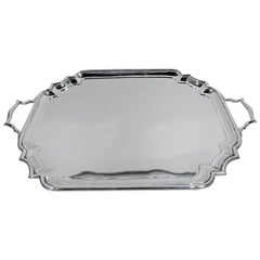 English Modern Georgian Sterling Silver Tea Tray