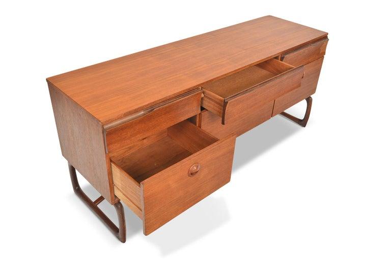 Mid-Century Modern English Modern Six-Drawer Midcentury Dresser in Teak