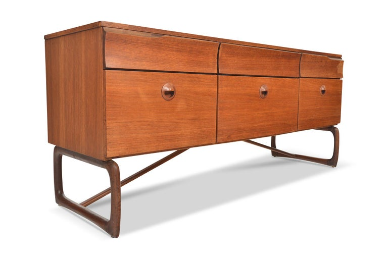 Swedish English Modern Six-Drawer Midcentury Dresser in Teak