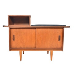 English Modern Teak Telephone Bench by Jentique