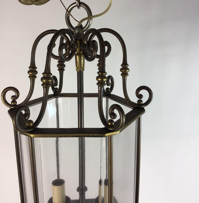 English Nautical Lantern In Good Condition For Sale In Douglas Manor, NY