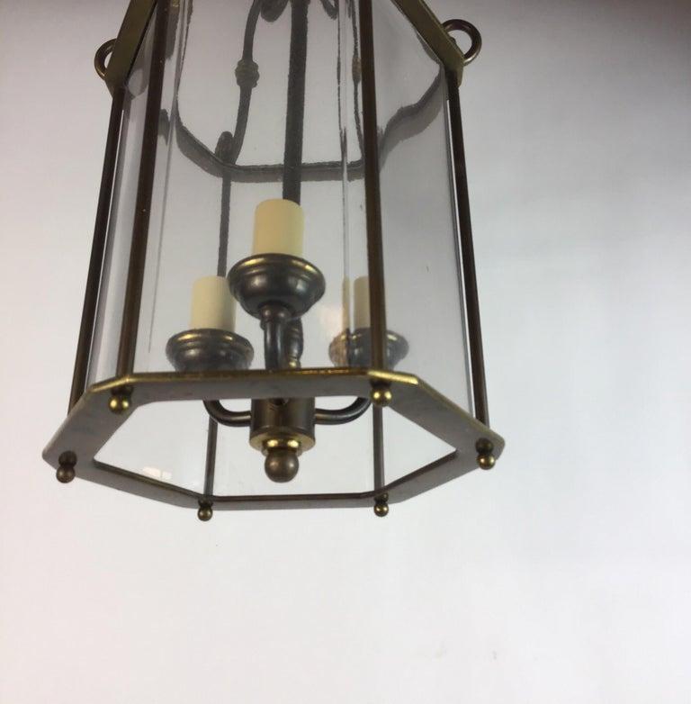 Glass English Nautical Lantern For Sale
