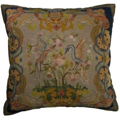 English Needlepoint Pillow, circa 1880 1469p