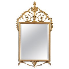 English Neoclassical Beveled Mirror with Gilt Frame (H 55 1/4 x W 31 1/2)