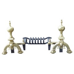 English Neo Gothic Fireplace Grate, Fire Grate