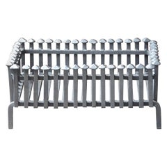 English Neo Gothic Style Fireplace Grate, Fire Grate