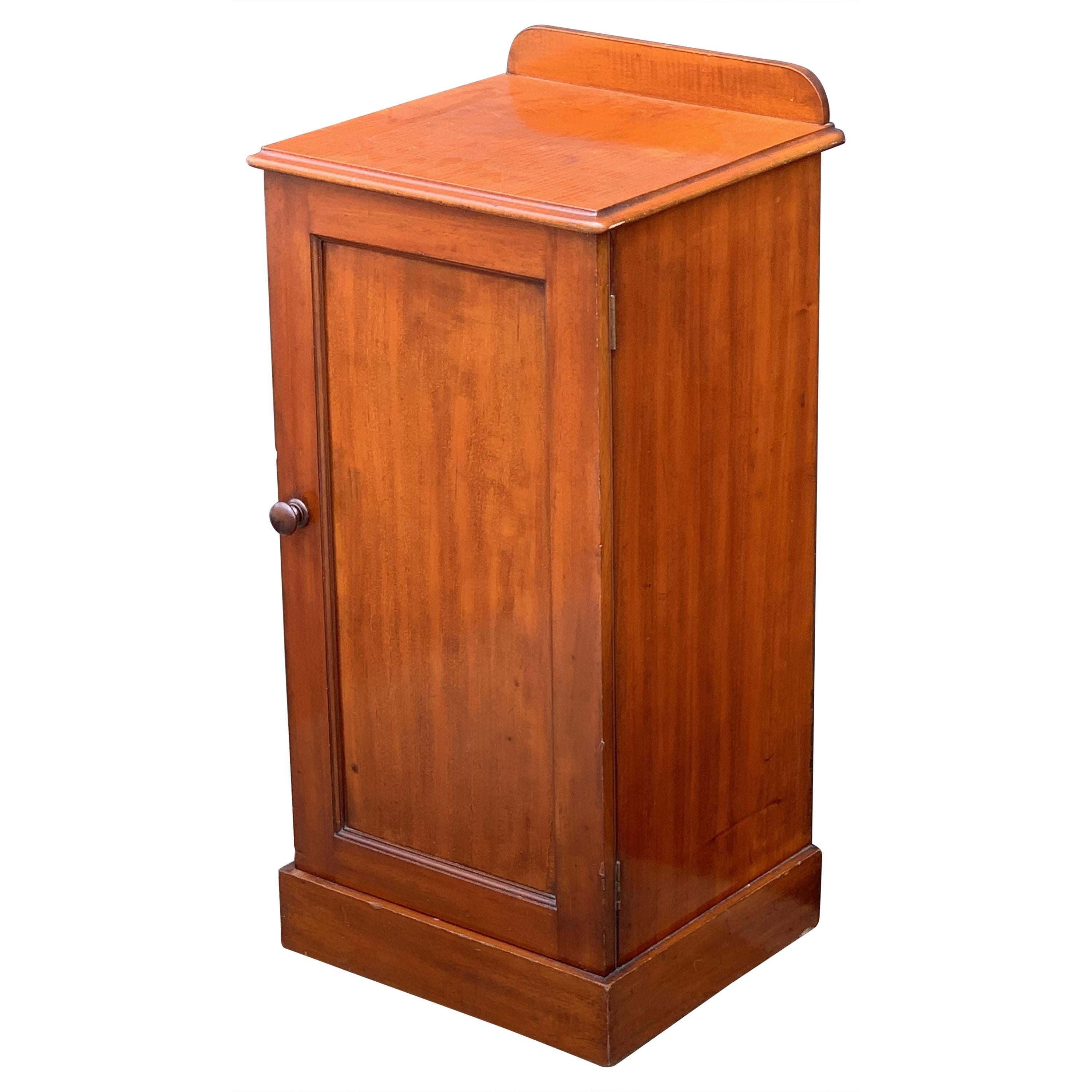 English Nightstand or Bedside Table of Mahogany