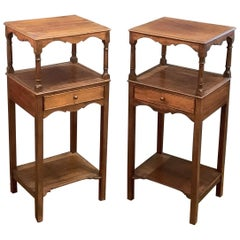 English Nightstands or Bedside Tables of Mahogany, Individually Priced